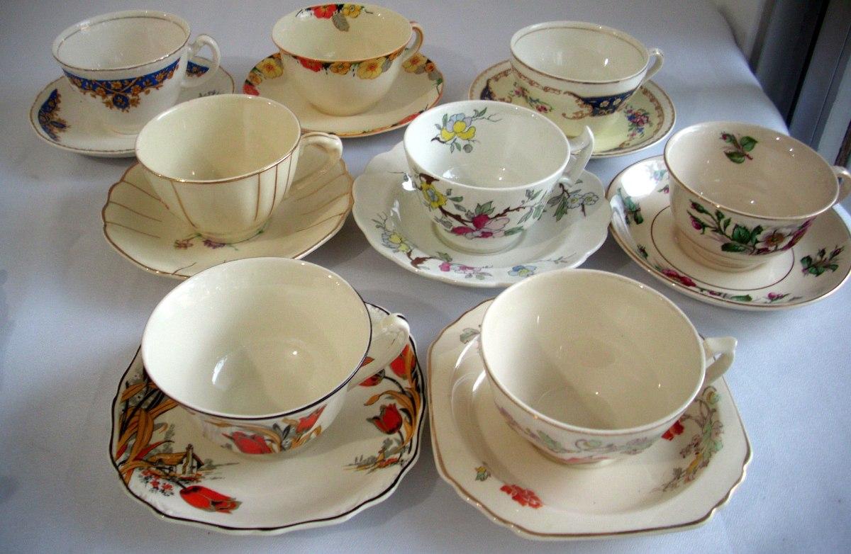 Juego de taza y plato de t ingl s sol j g meakin for Juego de tazas de te