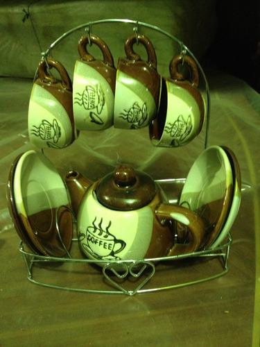 juego de tazas de café artesanal