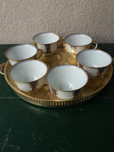 juego de tazas para chocolate en porcelana