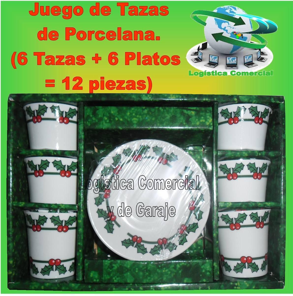 Juego de tazas platos de porcelana 12 pzas 80 ml for Juego de tazas de te