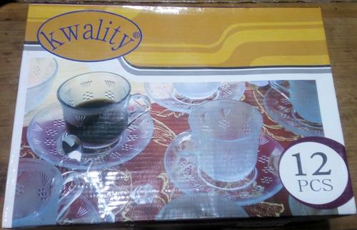 juego de tazas y platos cafe 12 piezas