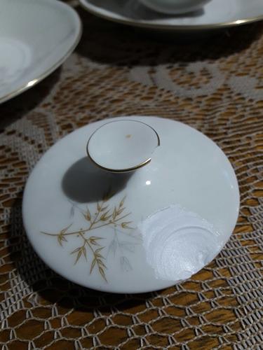 juego de te completo.antiguo en fina porcelana verbano