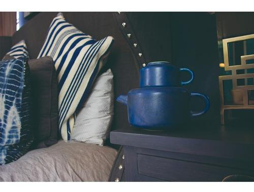 juego de te  con 4 tazas diseño ceramica tetera tazas