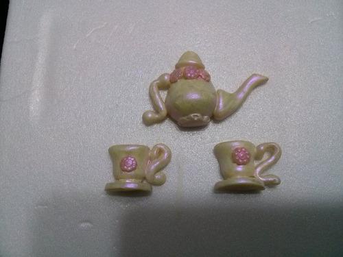 juego de te miniatura en porcelana fría estilo inglés