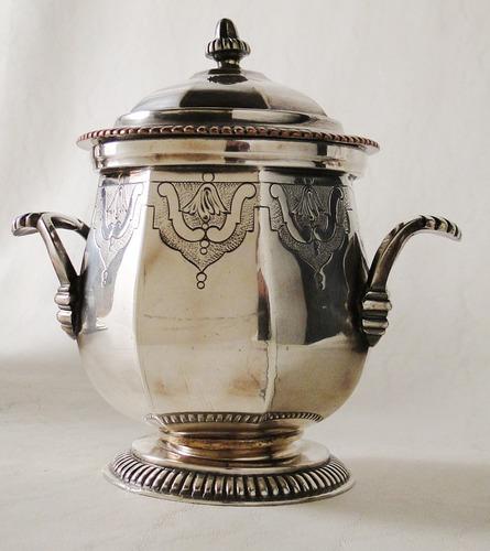 juego de té y café inglés metal plateado sellado mills