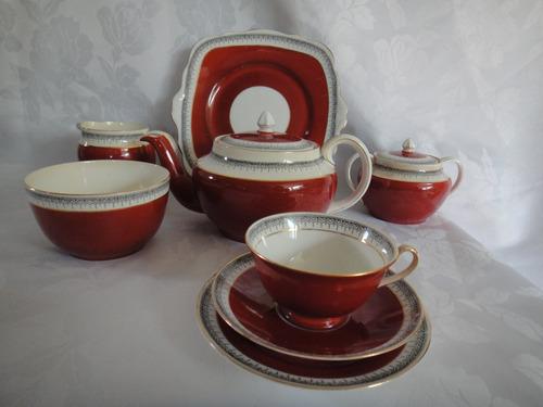 juego de té y masas (6p) foley china - made in england -23 p