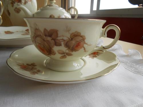 juego de té y torta porcelana  kpm princez para 10 personas