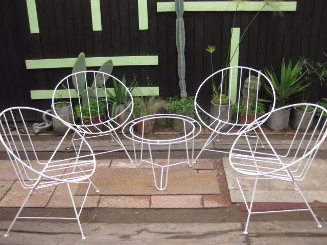 Juego de terraza 5 piezas sillones vintage 1 330 for Juego de sillones para balcon