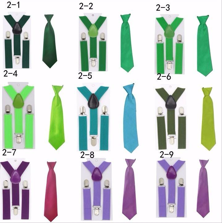 juego de tirantes y corbata para nios colores