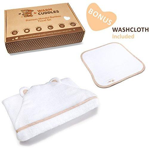 juego de toalla y toalla con capucha para bebé premium |...