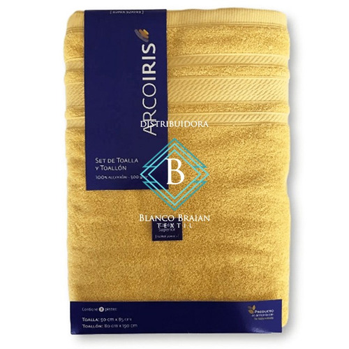 juego de toalla y toallon arco iris 500gr calidad superior
