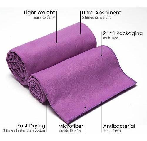 juego de toallas de viaje de microfibra de dilib, 2 unidade