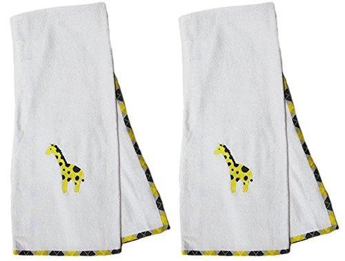 juego de toallas pam grace creations, jirafa argyle