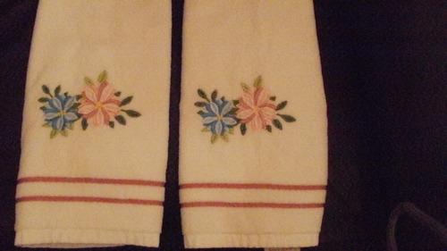 juego de toallas para manos bordadas