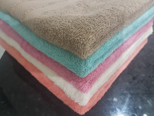 juego de toallas premium unicolor, tamaño 1.20 x 0.68.