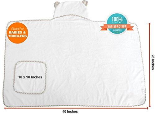 juego de toallas y toallas de bebe con capucha premium elige