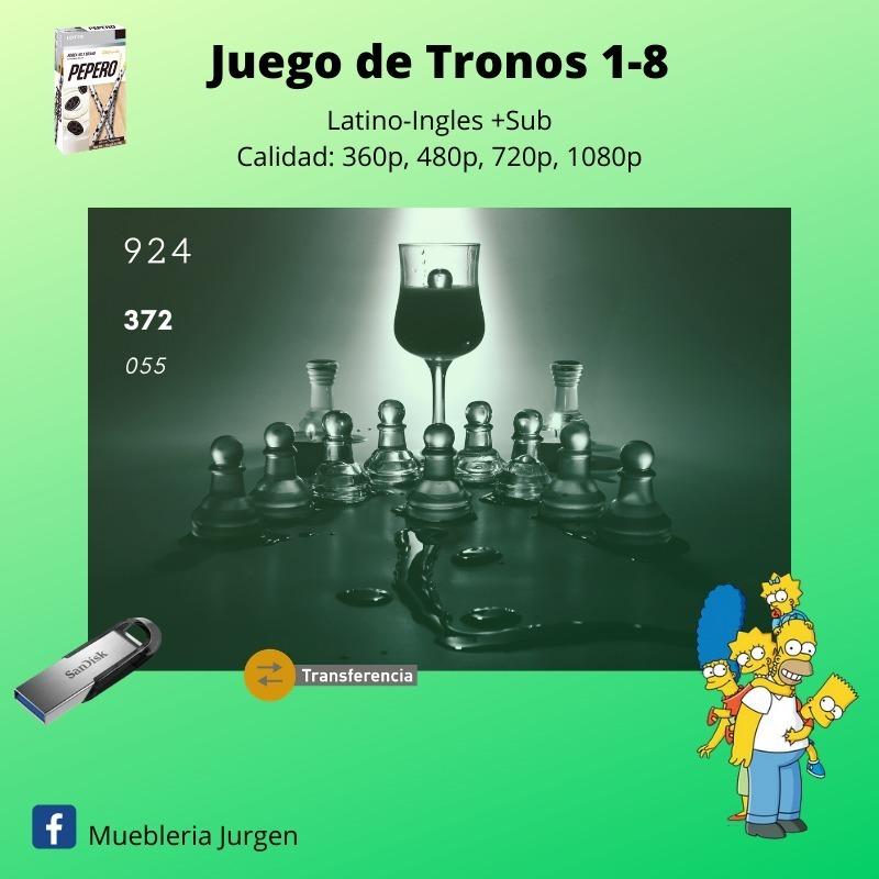Juego De Tronos 1,2,3,4,5,6,7,8 Temporadas Lat. Hd-fullhd