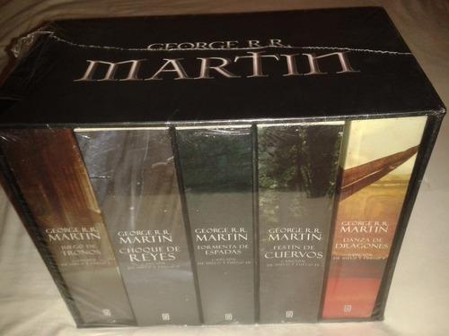 juego de tronos caja con tomos 1-5 ... george r r martin dhl