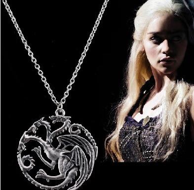 juego de tronos del dragón daenery stargaryen collar