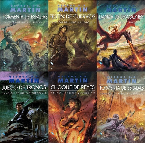 juego de tronos / game of thrones - 6 libros george r martin