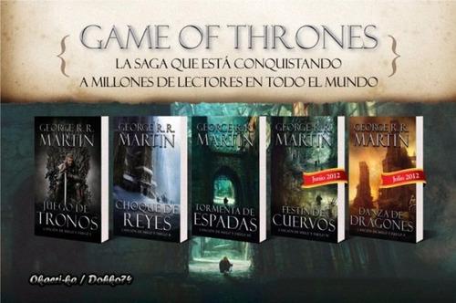 juego de tronos game of thrones todos los libros 1-5  pdf