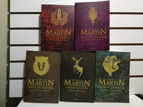 juego de tronos saga completa r. r. martín 5 libros nuevos