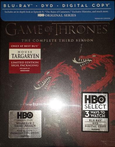 juego de tronos temporada 3 tres edicion limitada blu-ray