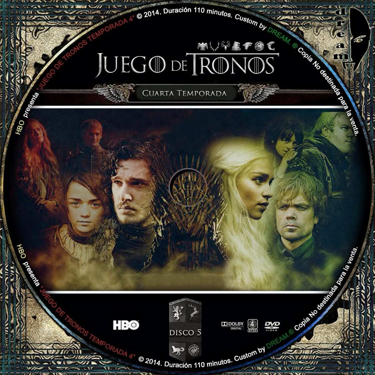 Juego De Tronos Temporada 4 Dvd Full Menu - Bs. 40.000,00 en Mercado ...