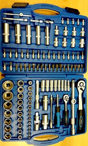 juego de tubos 111 piezas encastre 1/2 y 1/4 guiller