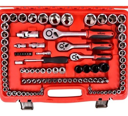 juego de tubos 120 piezas 1/2-3/8-1/4 udovo