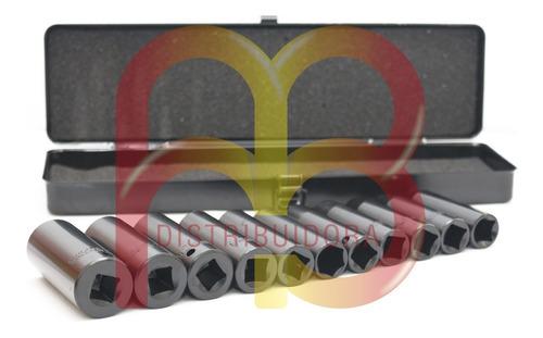 juego de tubos largos alto impacto encastre 1/2 pg 11 piezas