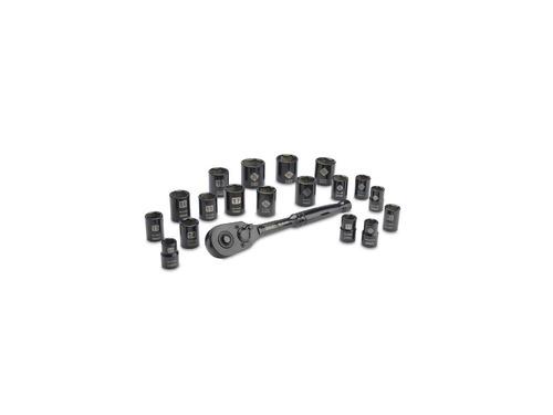 juego de tubos stanley 19 piezas 3/8 stmt74089