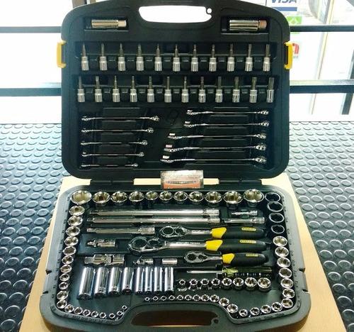 juego de tubos y llaves stanley st91931 120 piezas + maletin