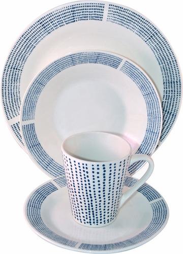 juego de vajilla 24 piezas porcelana divino