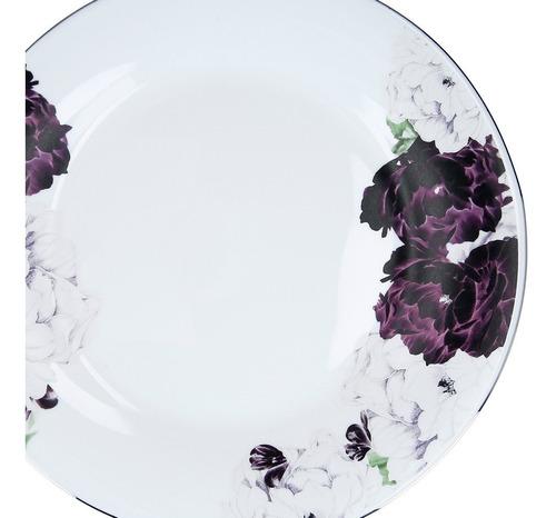 juego de vajilla opal glass con flores 20 piezas