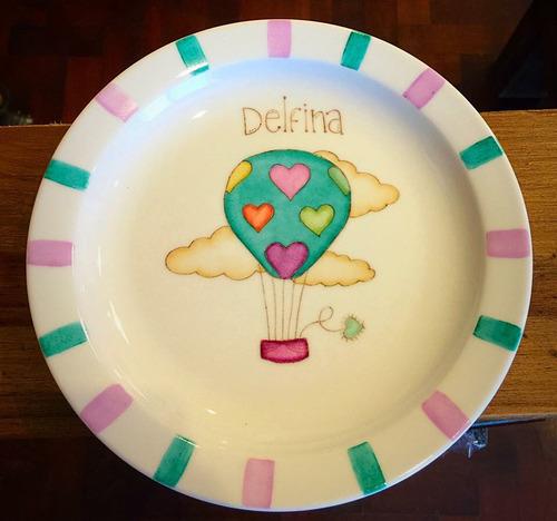 juego de vajilla personalizada de cerámica pintada a mano
