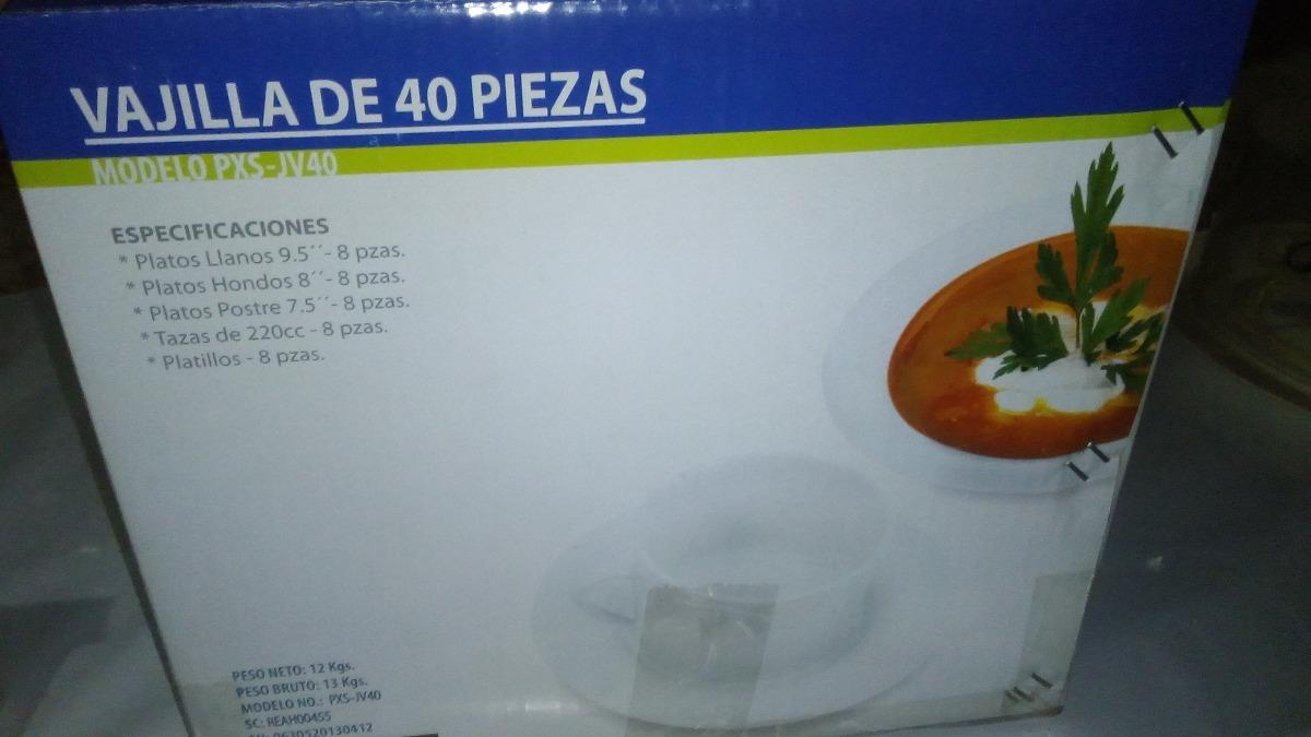 Juego De Vajillas Blanco De 40 Piezas Pixys Bs 400 00 En