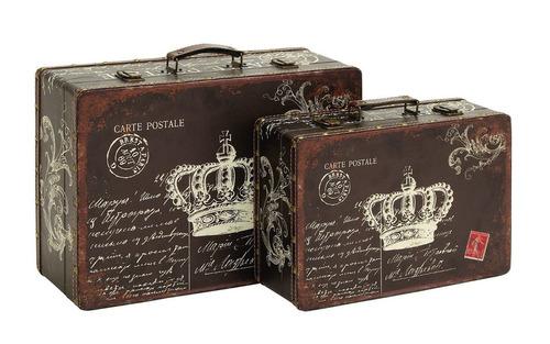 juego de valijas maletines decorativos benzara canvas