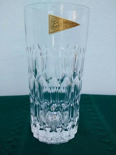 juego de vasos de cristal