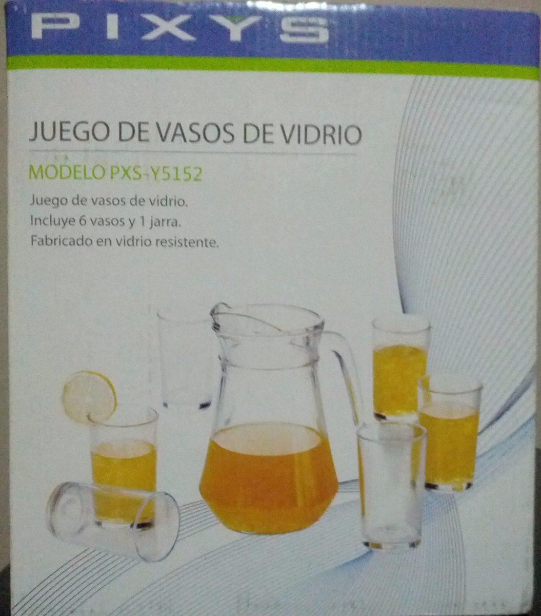 Juego De Vasos De Vidrio Pixys Bs 630 000 00 En Mercado Libre # Muebles Tiendas Pixys