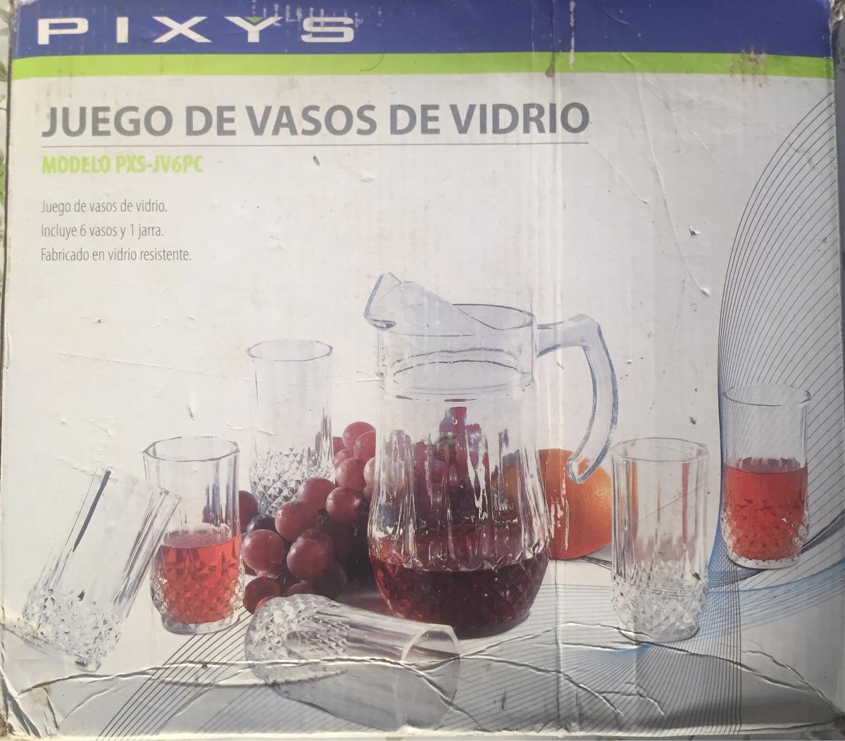 Juego De Vasos De Vidrio Tallados Con Su Jarra Marca Pixys Bs  # Juegos De Muebles Pixys