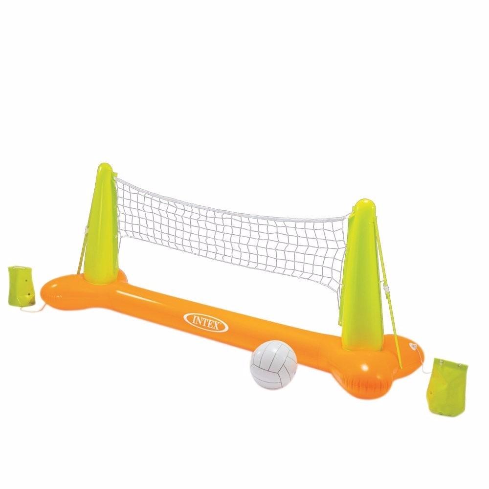 Juego de voleibol inflable para alberca intex 1 - Red voley piscina ...