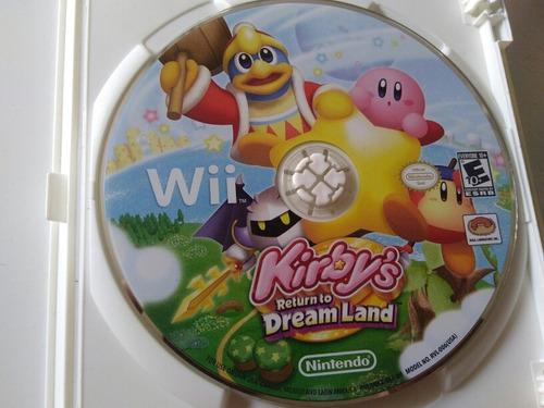 juego de wii original,kirbys return to dream land sin manual