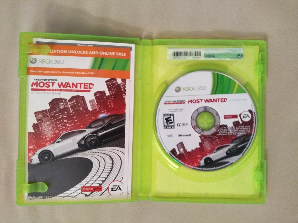 Juego De Xbox360 Need For Speed Most Wanted Usado - Bs  4 500,00