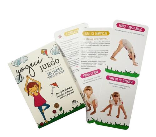juego de yoga para niños y grandes 30 ejercicios yogui carta