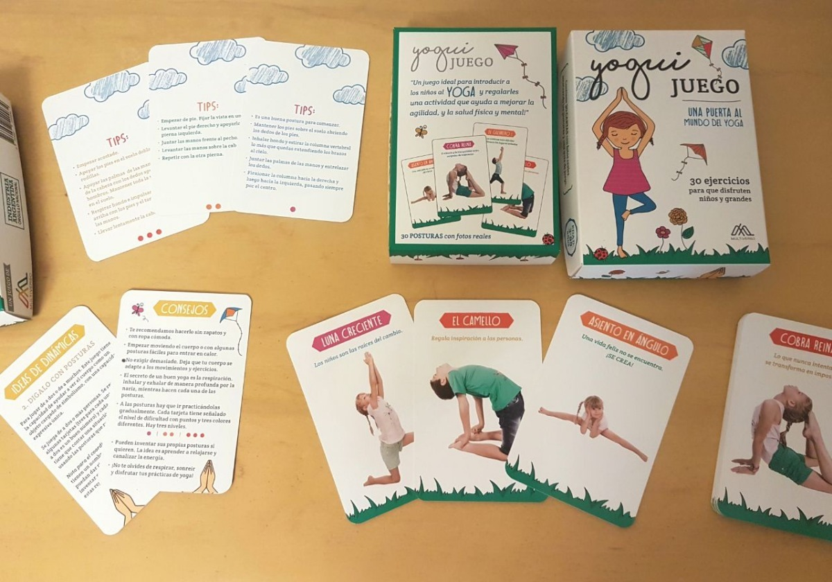 juego de yoga para niños y grandes 30 ejercicios yogui carta ...