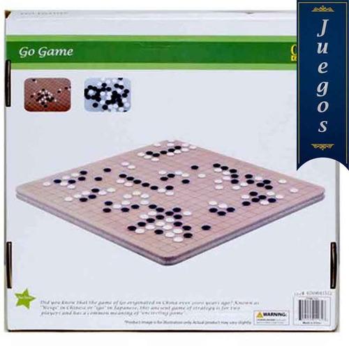 juego del go madera fichas blancas negras