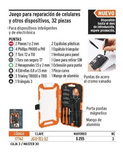 juego desarmadores reparacion celular 32 pz truper 17762