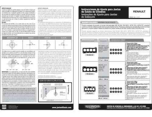 juego descarbonización megane clio/ii laguna - 1.6 k4m/j 16v