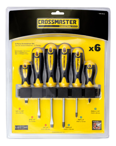 juego destornilladores 6 pzas plan-phill crossmaster 9940994